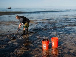 oil spills cleanup method